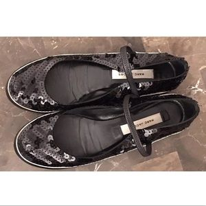 Marc Jacobs Ballet Flats Black Sequins Strap 38.5